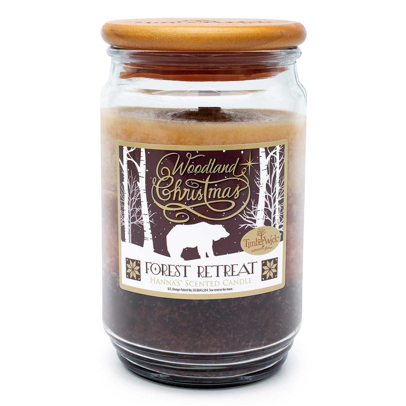 TimberWick Forest Retreat Scented Mottled Candle