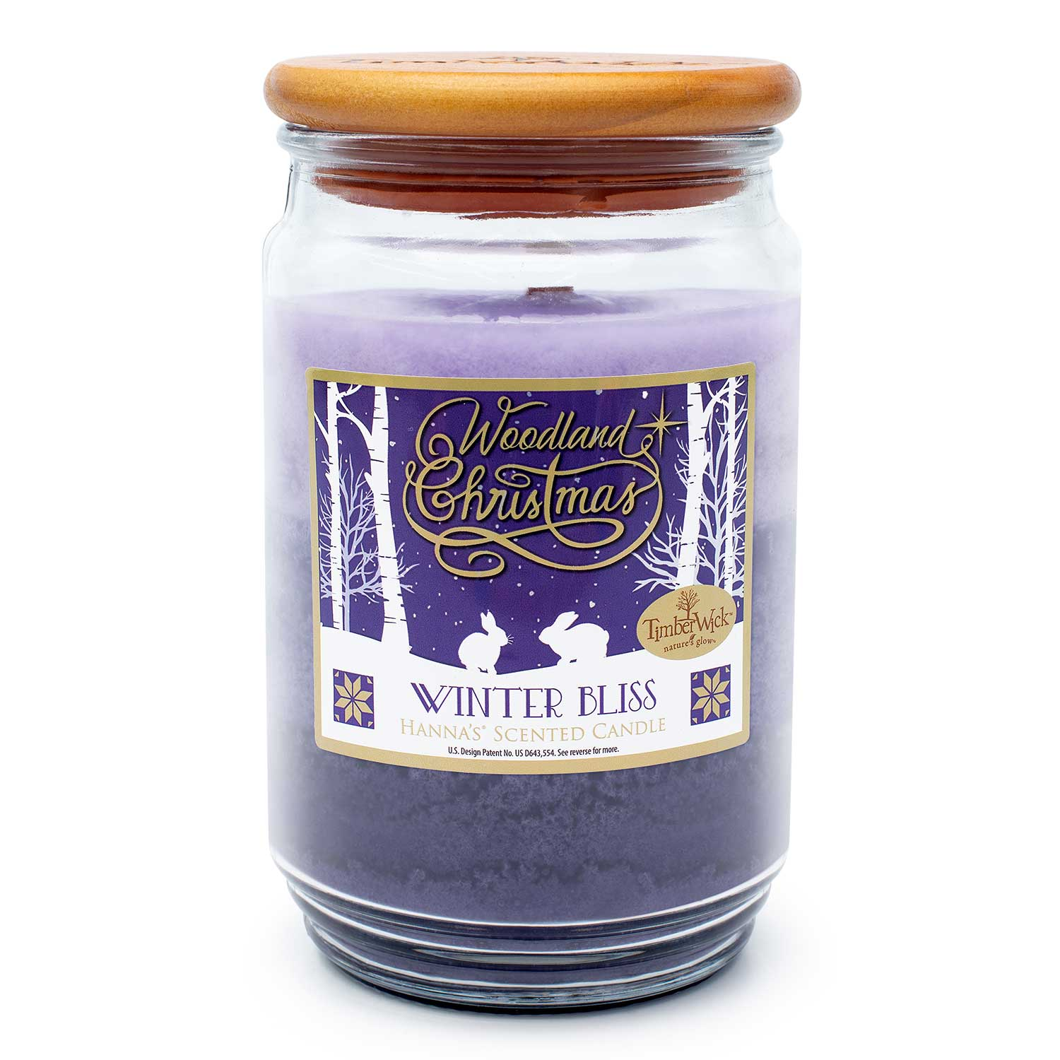 TimberWick Winter Bliss Scented Mottled Candle