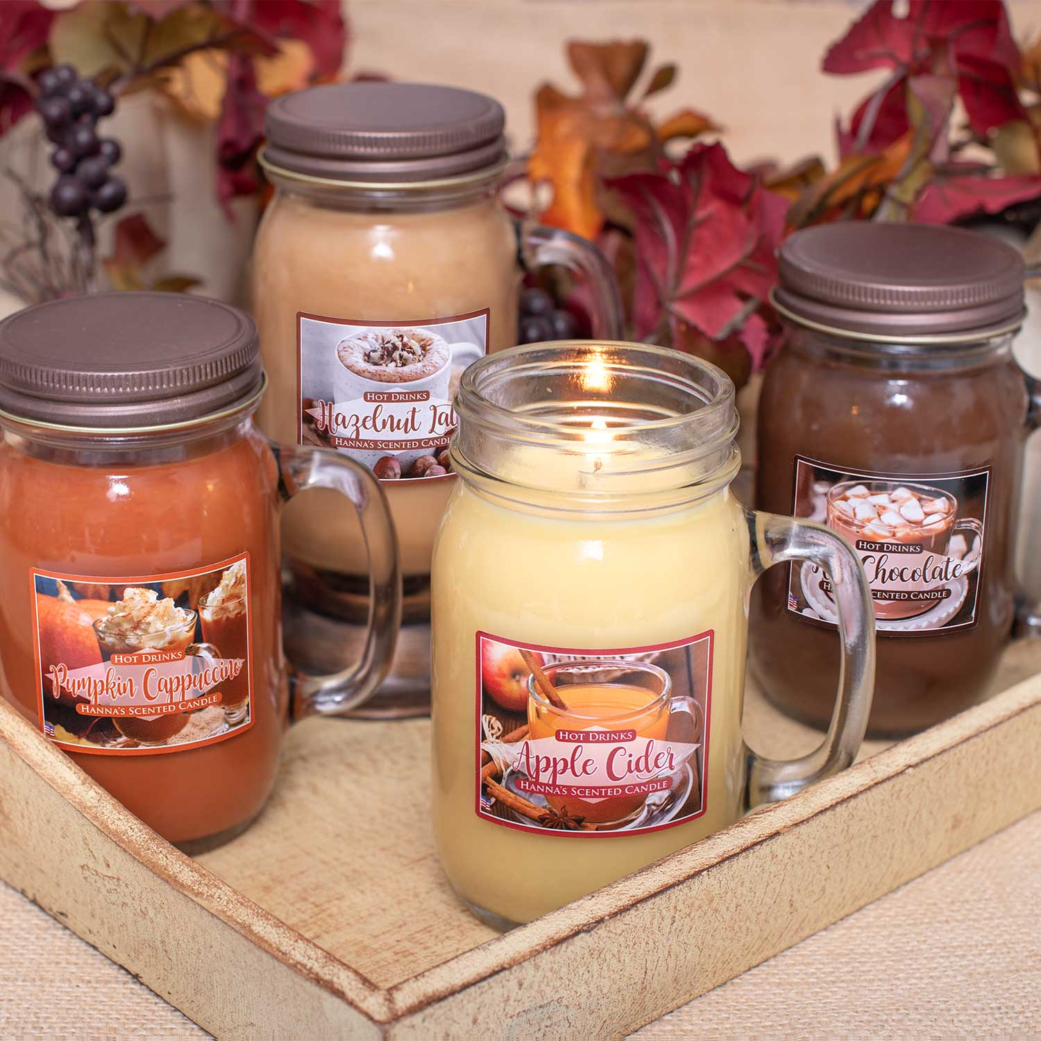 Hot Chocolate Scented Pint Jar Candle