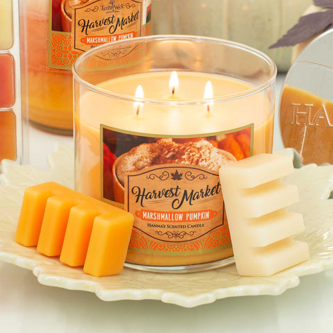 Marshmallow Pumpkin Scented 3 Wick Candle