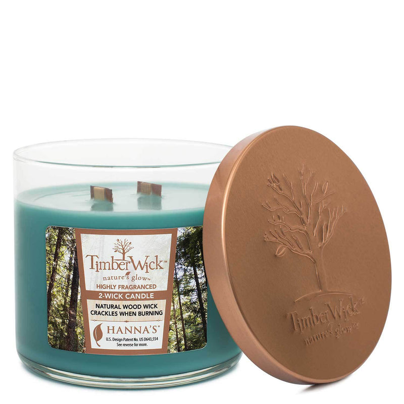 Timberwick Woodland Terrace Scented 2 wick Candle