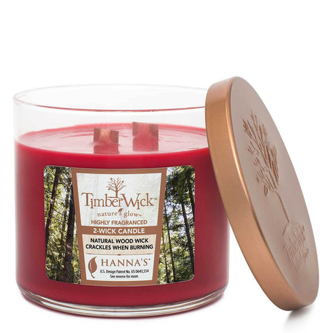 Timberwick Cinnamon Sugar Scented 2 wick Candle Candles Candlemart.com $ 14.99