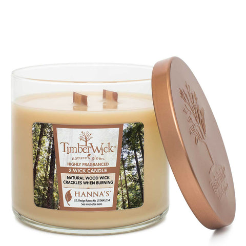 Timberwick Vanilla Brulee Scented 2 wick Candle