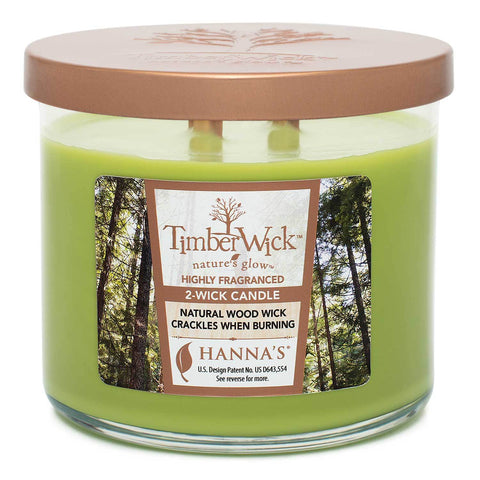 Timberwick Apple Melon Scented 2 wick Candle Candles Candlemart.com $ 14.99