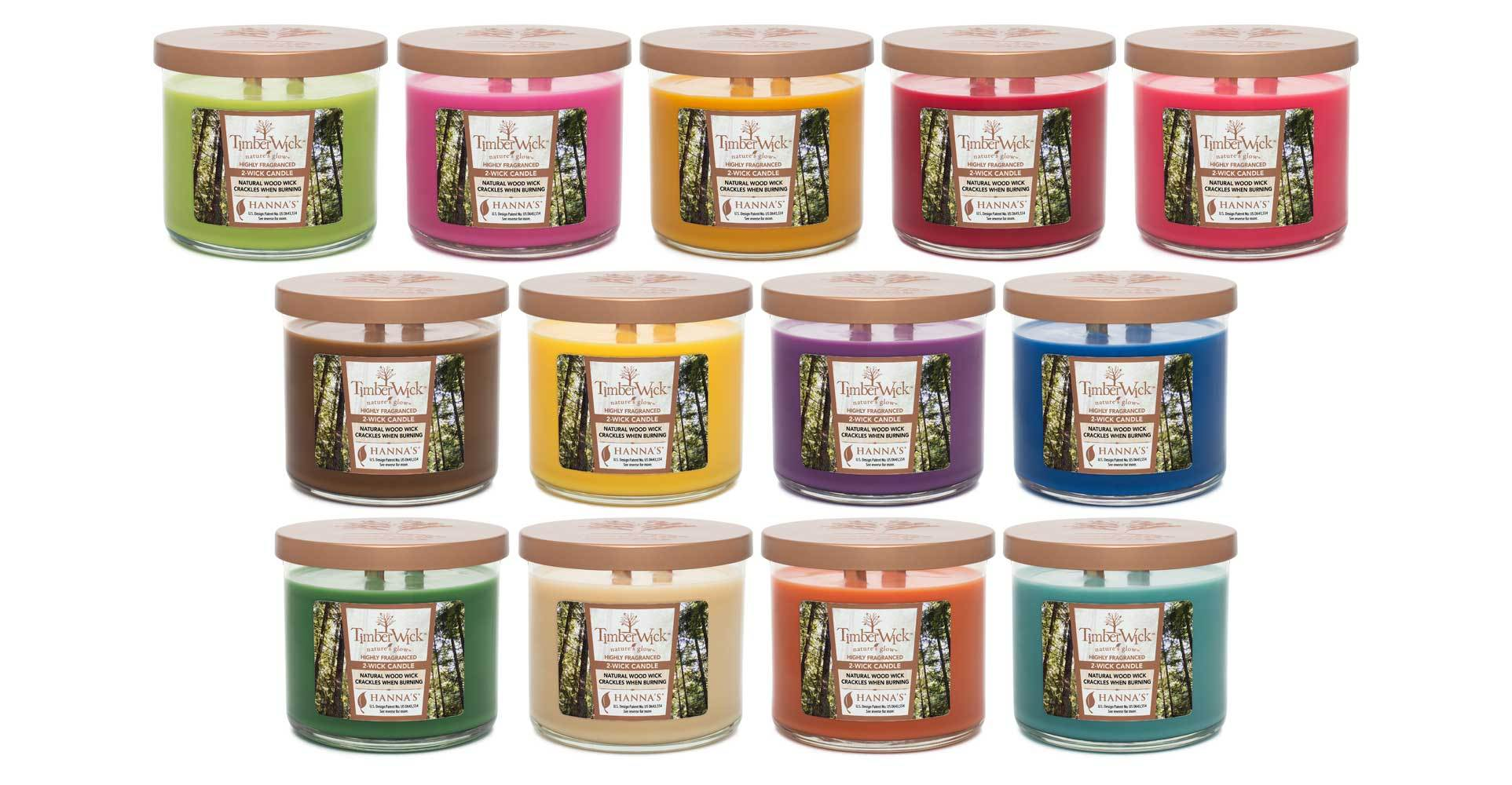 Timberwick Cranberry Mandarin Scented 2 wick Candle
