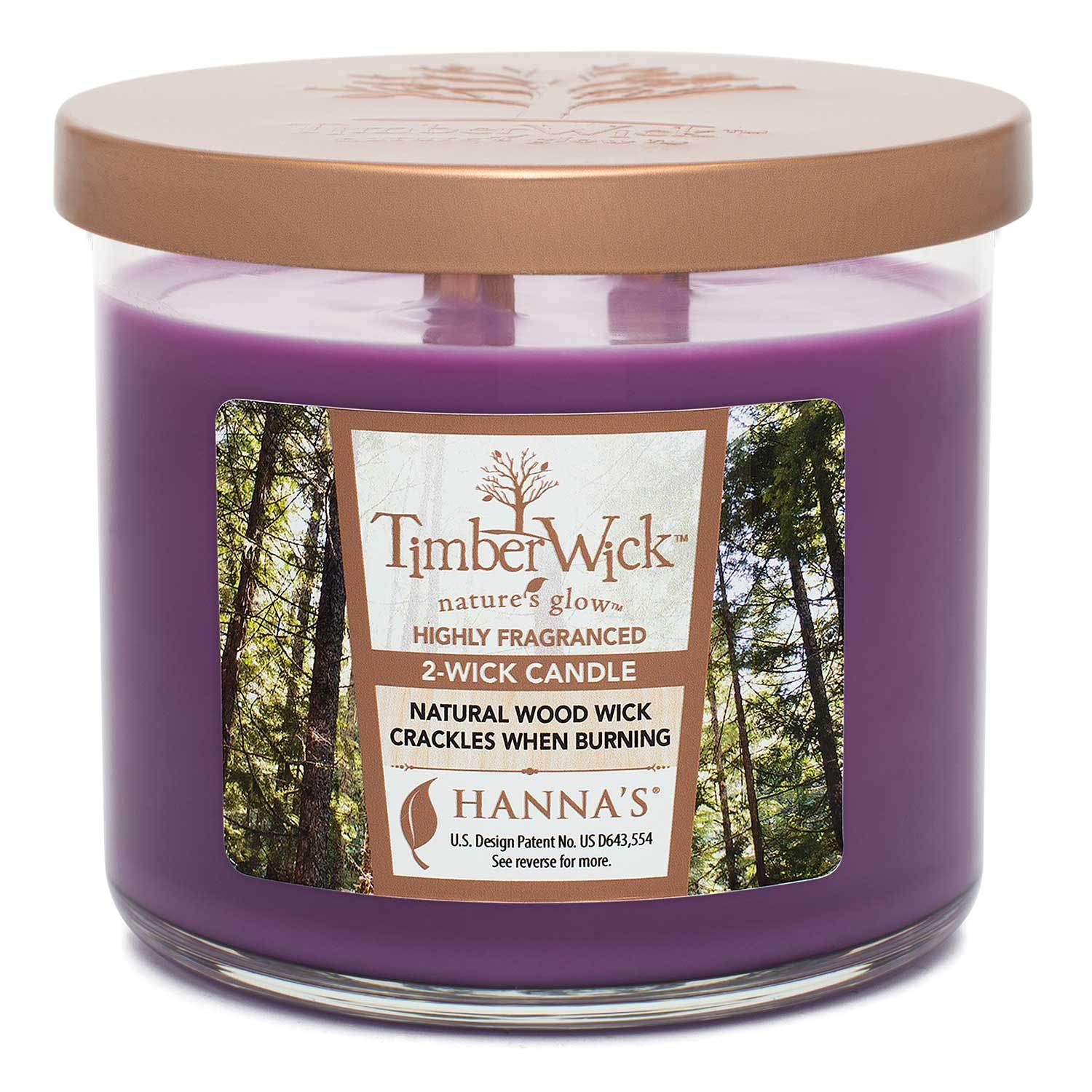 Timberwick Lavender Sachet Scented 2 wick Candle