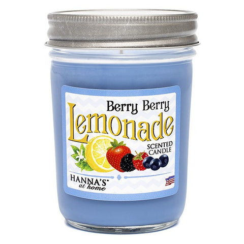 Berry Berry Lemonade Scented Half Pint Jar Candle Candles Candlemart.com $ 6.99