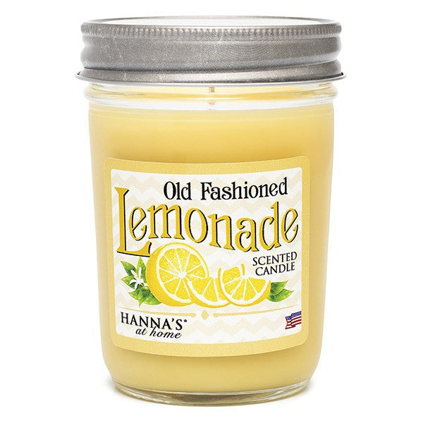 Old Fashioned Lemonade Scented Half Pint Jar Candle Candles Candlemart.com $ 6.99