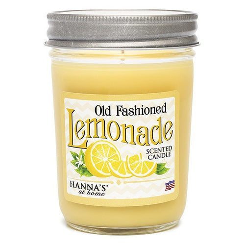 Old Fashioned Lemonade Scented Half Pint Jar Candle - Candlemart.com