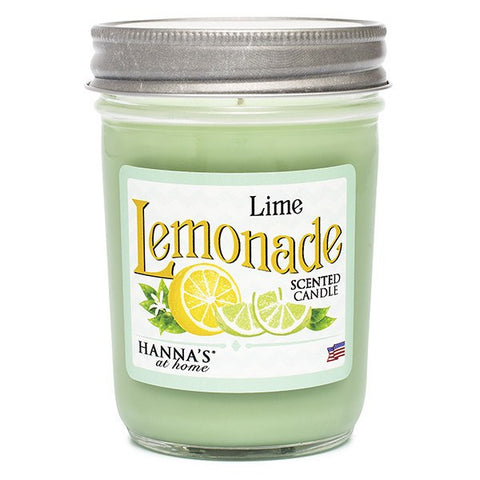 Lime Lemonade Scented Half Pint Jar Candle Candles Candlemart.com $ 6.99