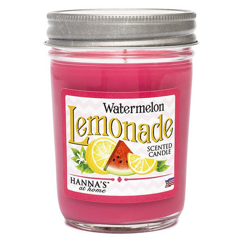 Watermelon Lemonade Scented Half Pint Jar Candle - Candlemart.com