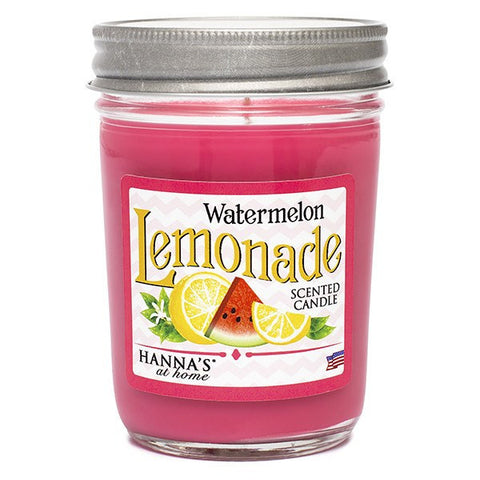 Watermelon Lemonade Scented Half Pint Jar Candle Candles Candlemart.com $ 7.99