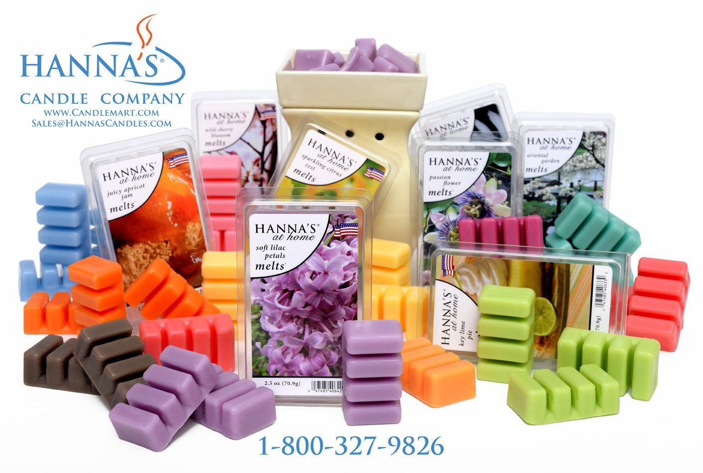 White Gardenia Blossom Scented Wax Melts - Candlemart.com