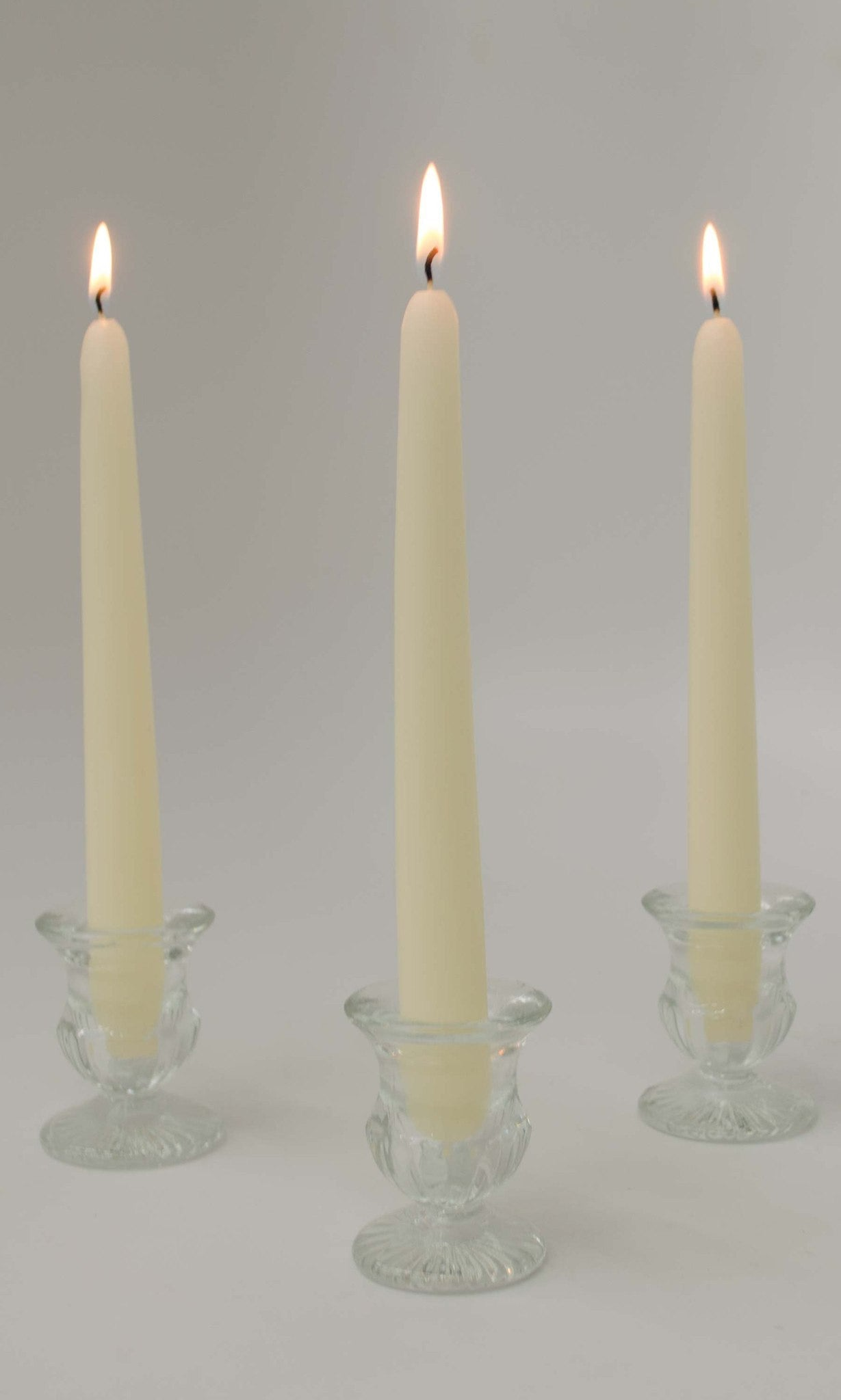 White 8inch Unscented Taper Candles (Case of 12) Candles Candlemart.com $ 5.00