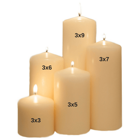 3x7 Unscented Ivory Pillar Candle - Candlemart.com