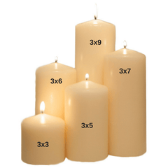 3x5 Unscented Ivory Pillar Candle Candles Candlemart.com $ 2.99