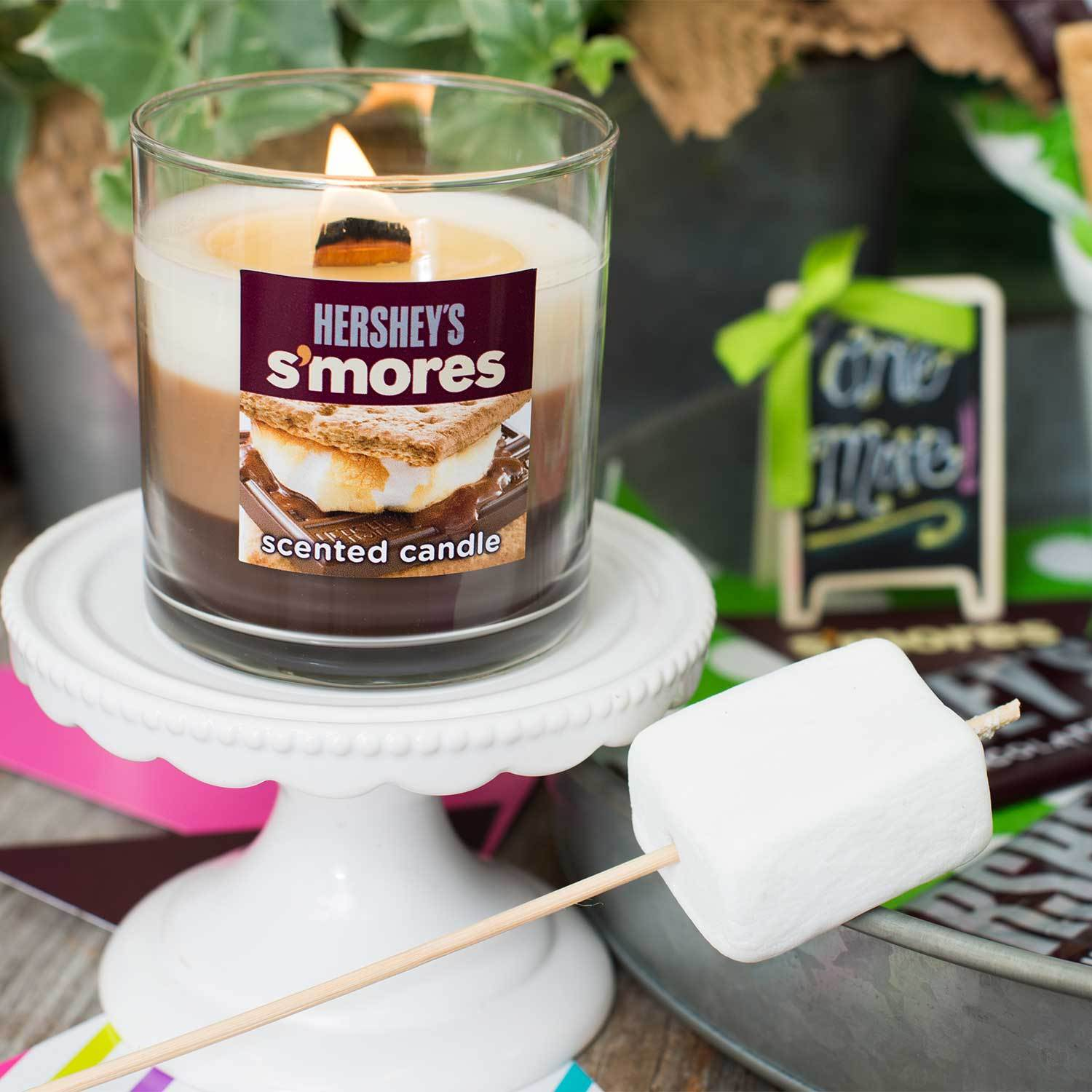 HERSHEY'S Triple Pour Smore's Scented Tumbler Candle Timberwick Candlemart.com $ 9.99