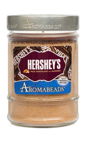 HERSHEY'S Milk Chocolate with Almonds Scented Aromabeads Canister Candle - Candlemart.com
