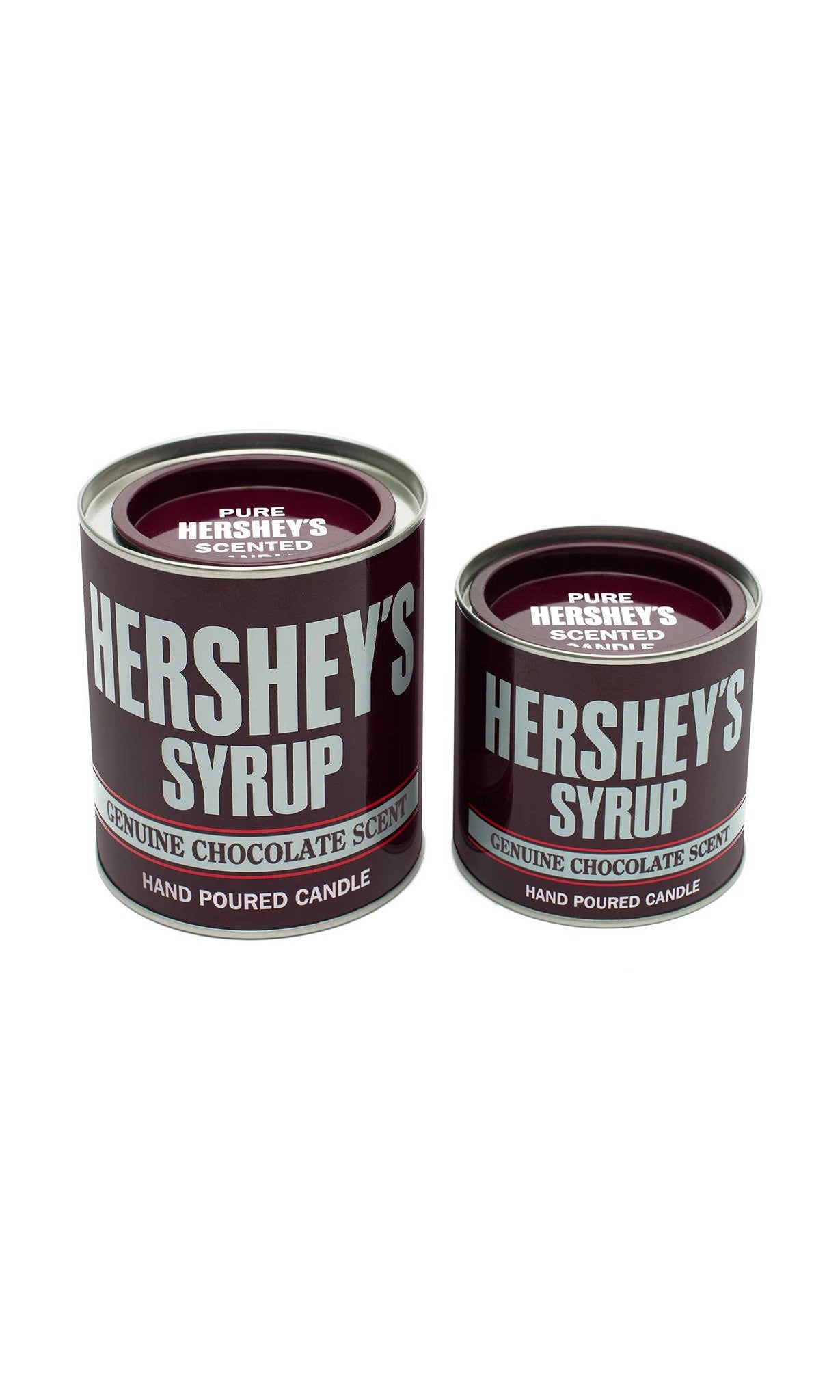 HERSHEY'S Chocolate Syrup Large Collectible Tin Candle - Candlemart.com - 4