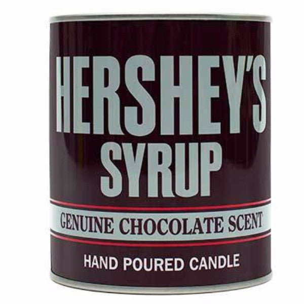 HERSHEY'S Chocolate Syrup Large Collectible Tin Candle - Candlemart.com