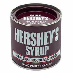 HERSHEY'S Chocolate Syrup Small Collectible Tin Candle Candles Candlemart.com $ 9.99