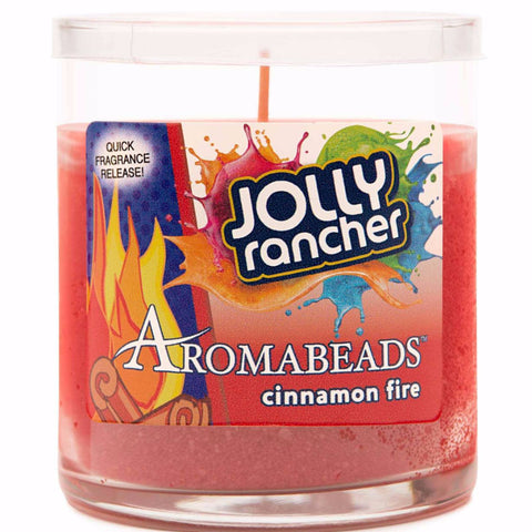 Jolly Rancher Cinnamon Fire Scented Aromabeads Candle - Candlemart.com