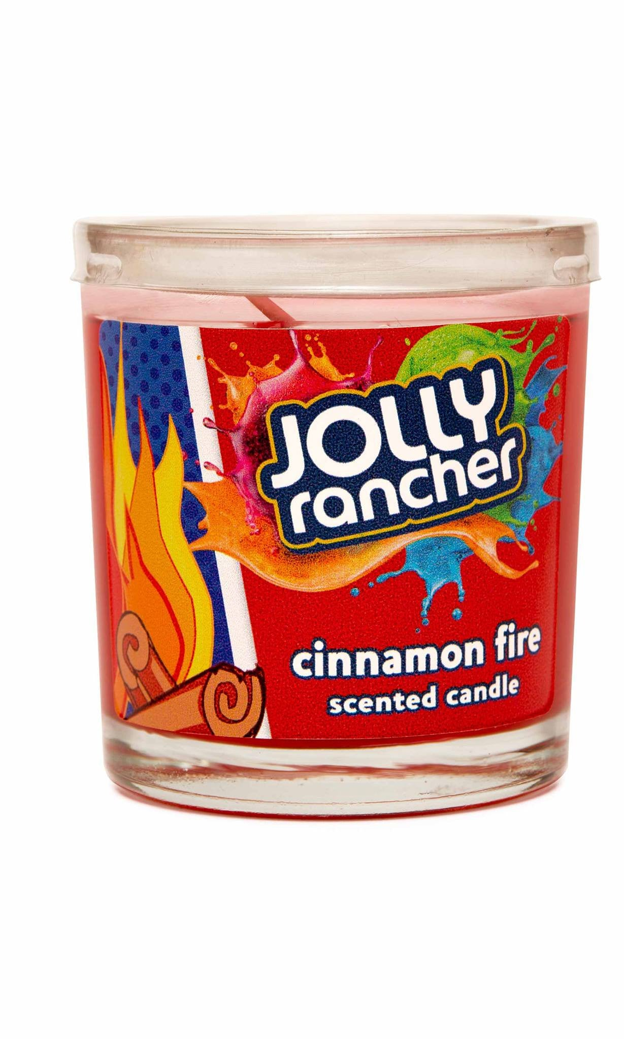 Jolly Rancher Cinnamon Fire Scented Jel Candle - Candlemart.com