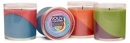 Jolly Rancher Awesome Twosome Blue Raspberry-Watermelon Scented Diagonal Candle - Candlemart.com - 3