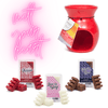 Melt Your Heart Red Warmer and Melts Gift Set