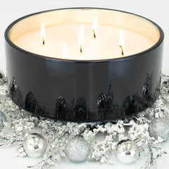 Mood Indigo Luxury 36oz Black Glass Candle
