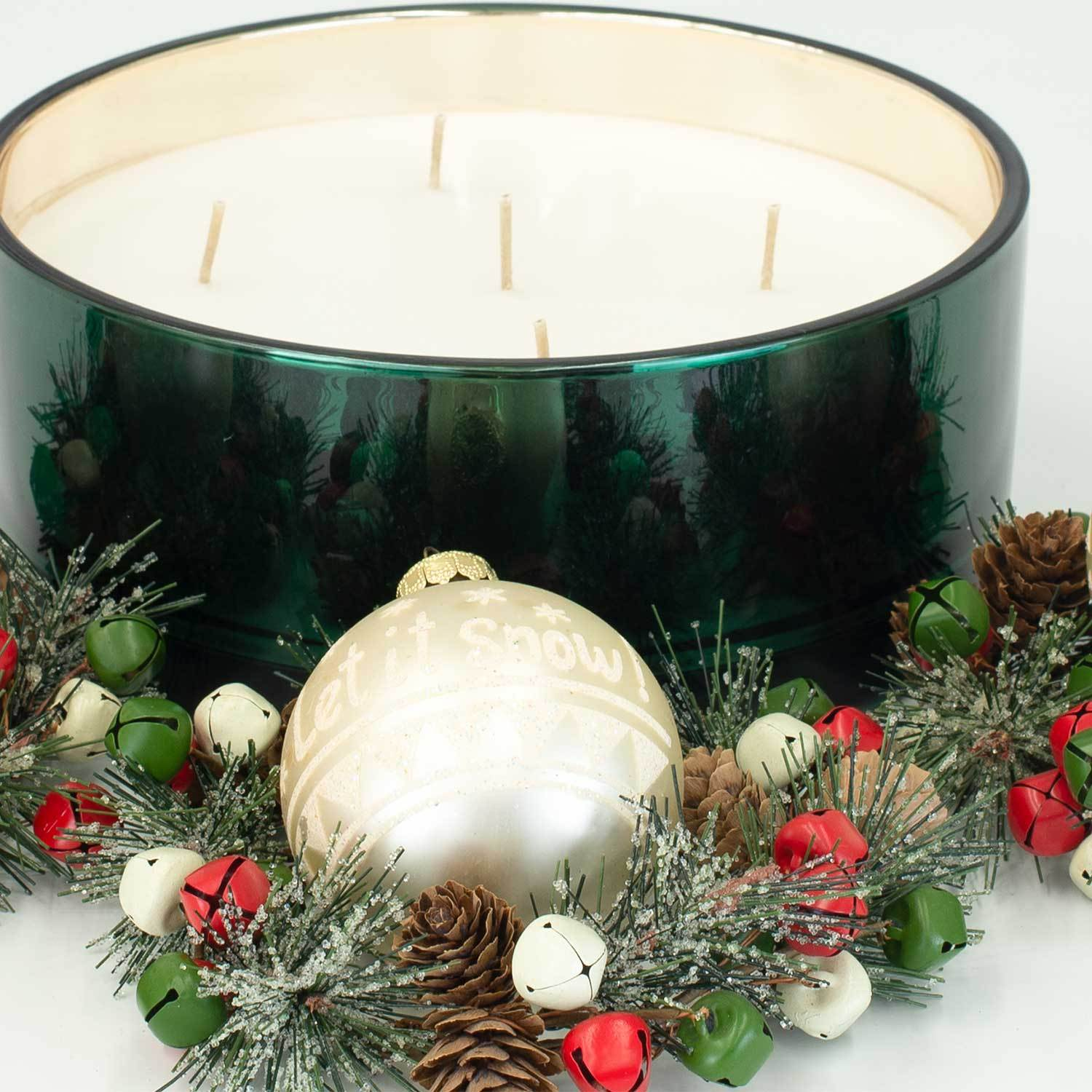 Winter Balsam Luxury 36oz Green Glass Candle
