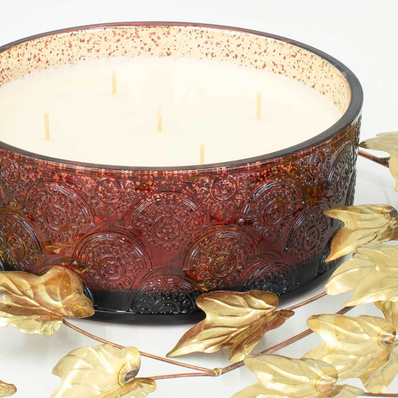 Spiced Berry Luxury 36oz Red Glass Candle