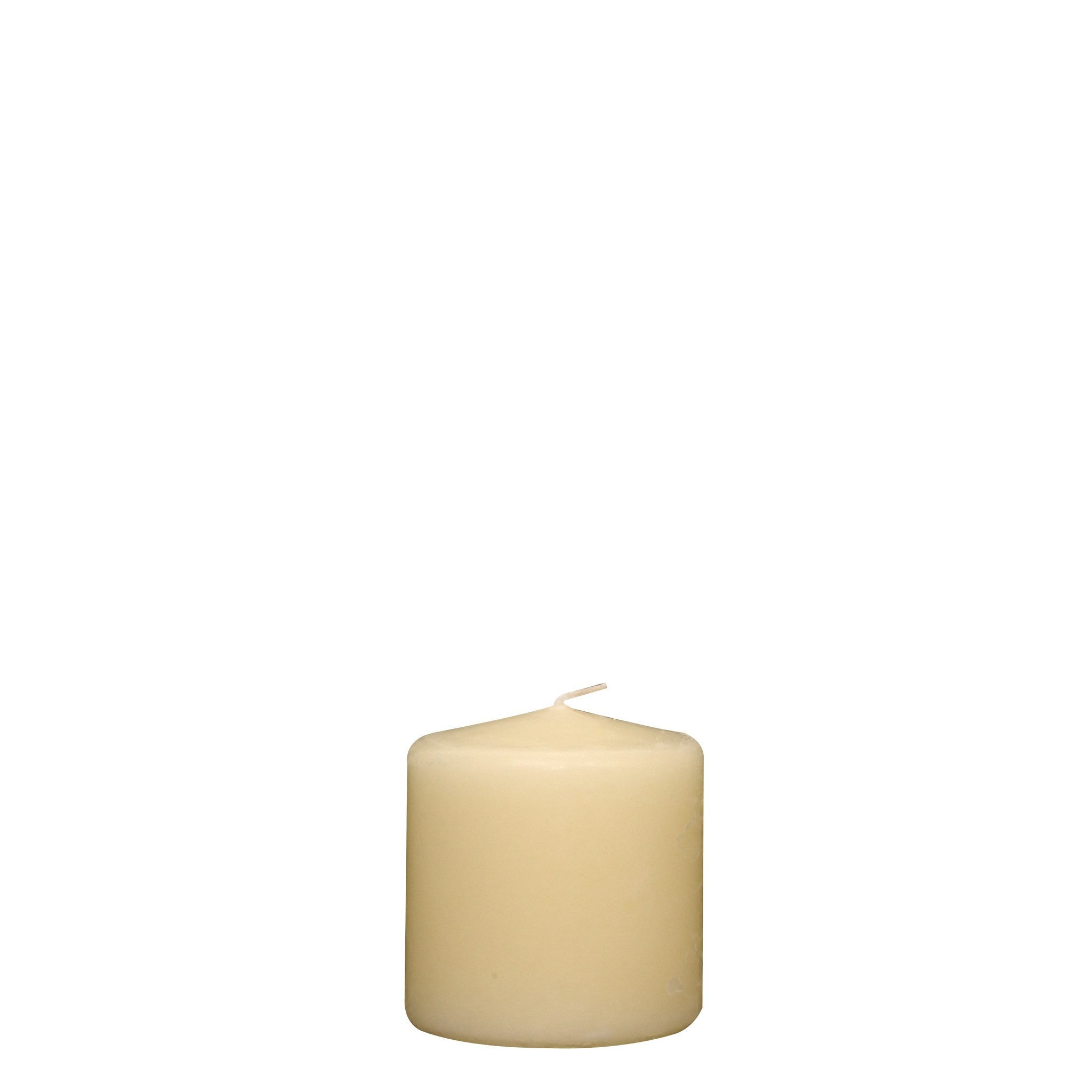 3x3 Unscented Ivory Pillar Candle - Candlemart.com - 3