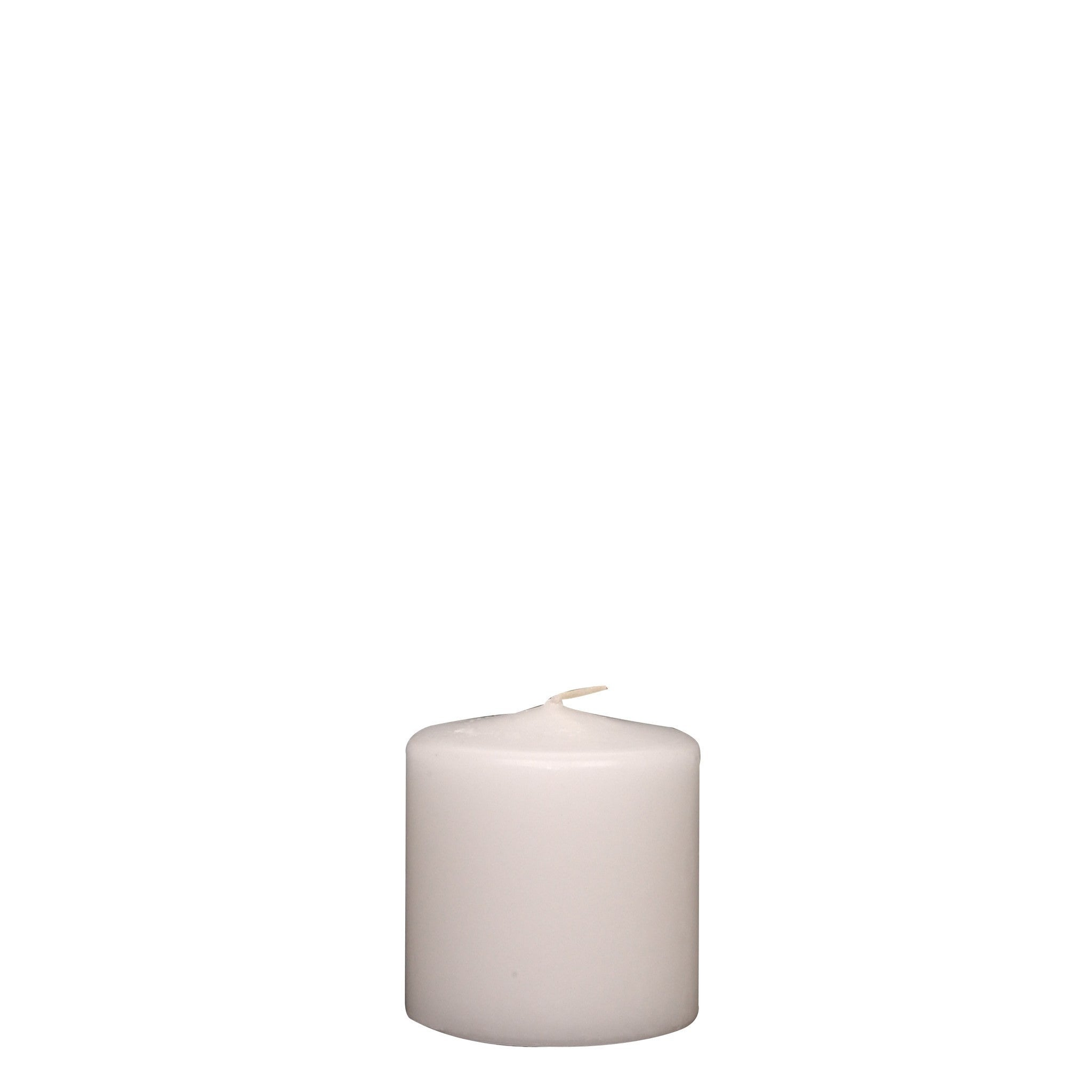 3x3 Unscented White Pillar Candle - Candlemart.com - 2