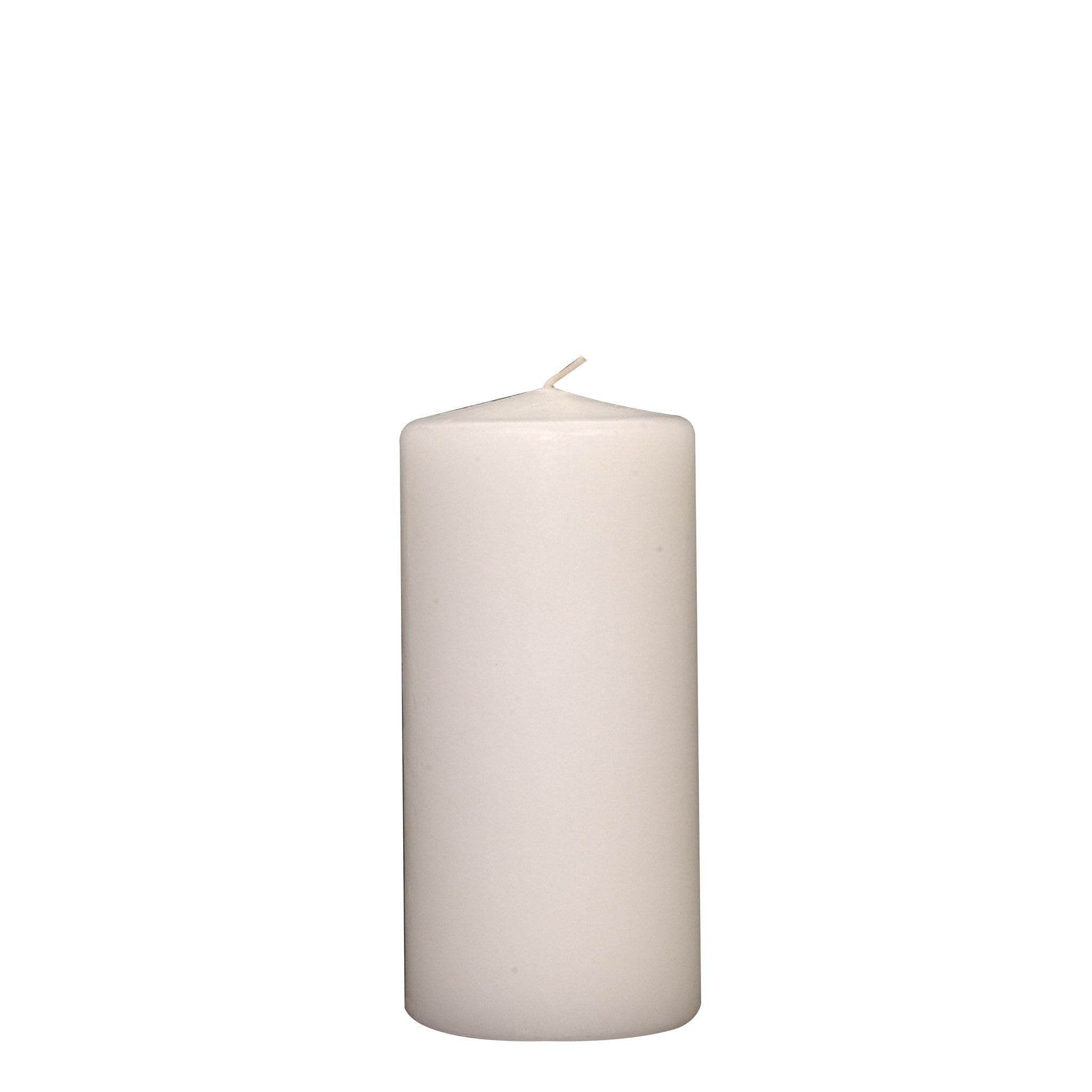 3x6 Unscented White Pillar Candle - Candlemart.com - 4