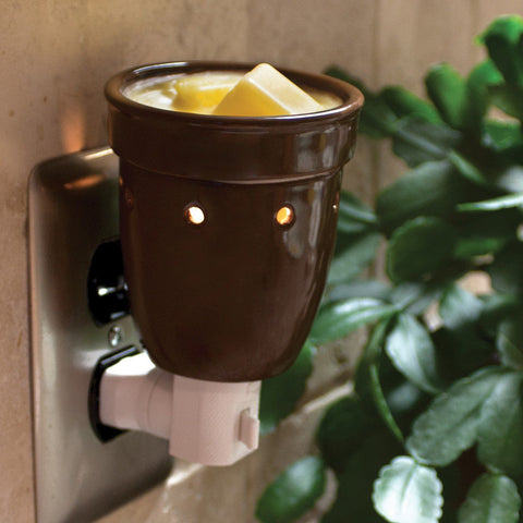 Brown Electric Plug-In Melt Warmer Melt Warmer Candlemart.com $ 11.99