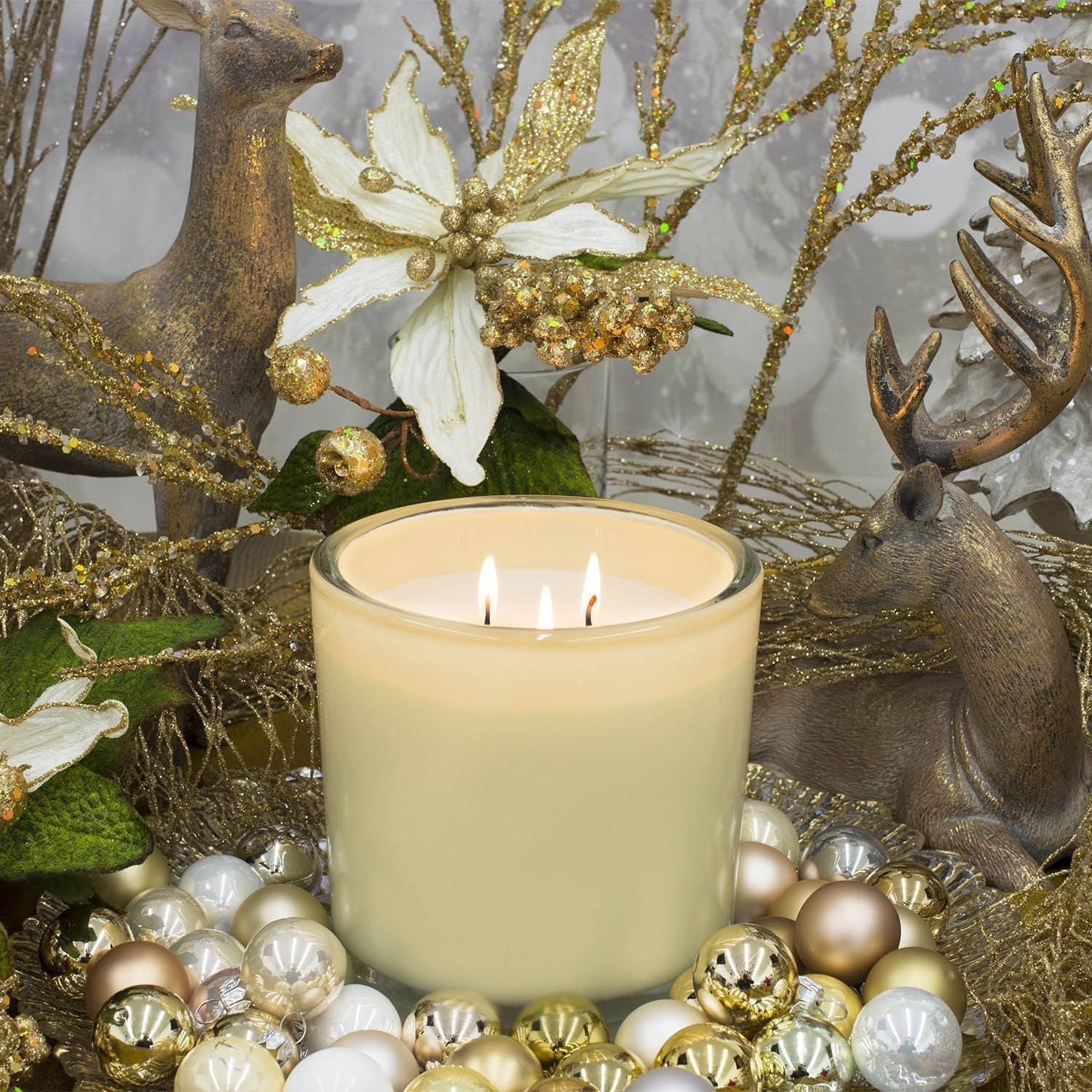 Neroli Honey Luxury 32oz White Glass Tumbler Candle - Candlemart.com