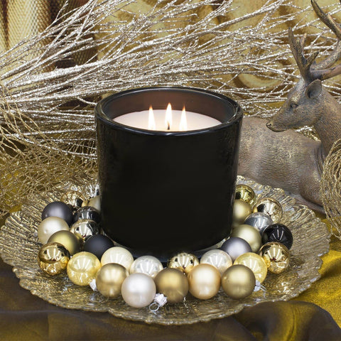 Mood Indigo Luxury 32oz Black Glass Tumbler Candle Luxury Candles Candlemart.com $ 19.99