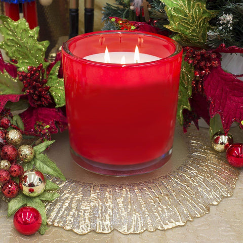 Juicy Pomegranate Luxury 32oz Red Glass Tumbler Candle Luxury Candles Candlemart.com $ 19.99