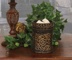Black and Gold Ceramic Electric Melt Warmer Melt Warmer Candlemart.com $ 22.99