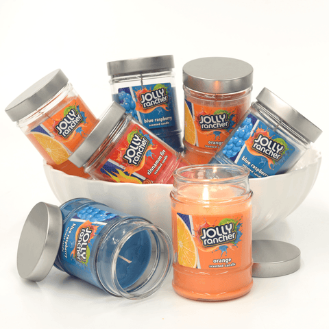 Jolly Rancher Orange Scented Canister Jar Candle Candles Candlemart.com $ 5.99