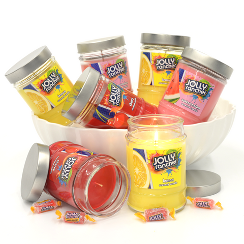 Jolly Rancher Cherry Scented Canister Jar Candle