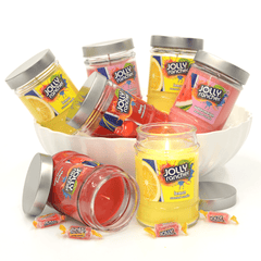 Jolly Rancher Lemon Scented Canister Jar Candle Candles Candlemart.com $ 5.99