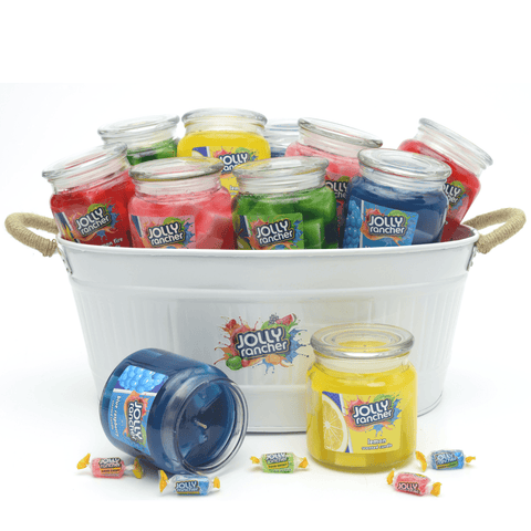 Jolly Rancher Cinnamon Fire Scented Jel Candle Jel Candles Candlemart.com $ 9.99