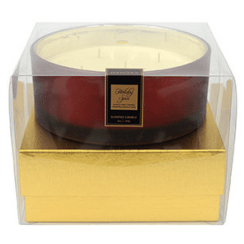 Holiday Spice Luxury 36oz Red Glass Candle Luxury Candles Candlemart.com $ 24.99