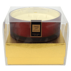 Holiday Spice Luxury 36oz Red Glass Candle