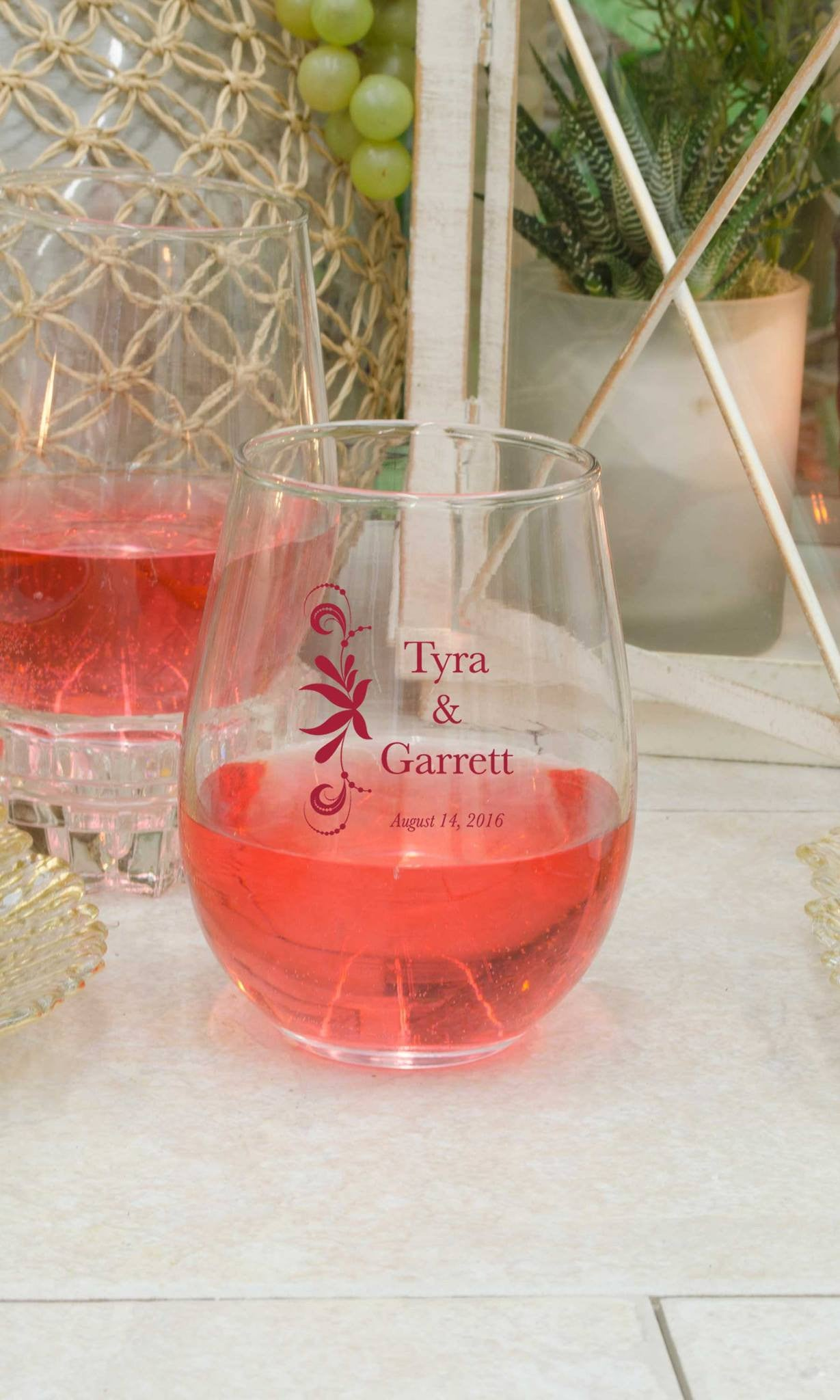 Stemless Wine Glass - Candlemart.com - 2