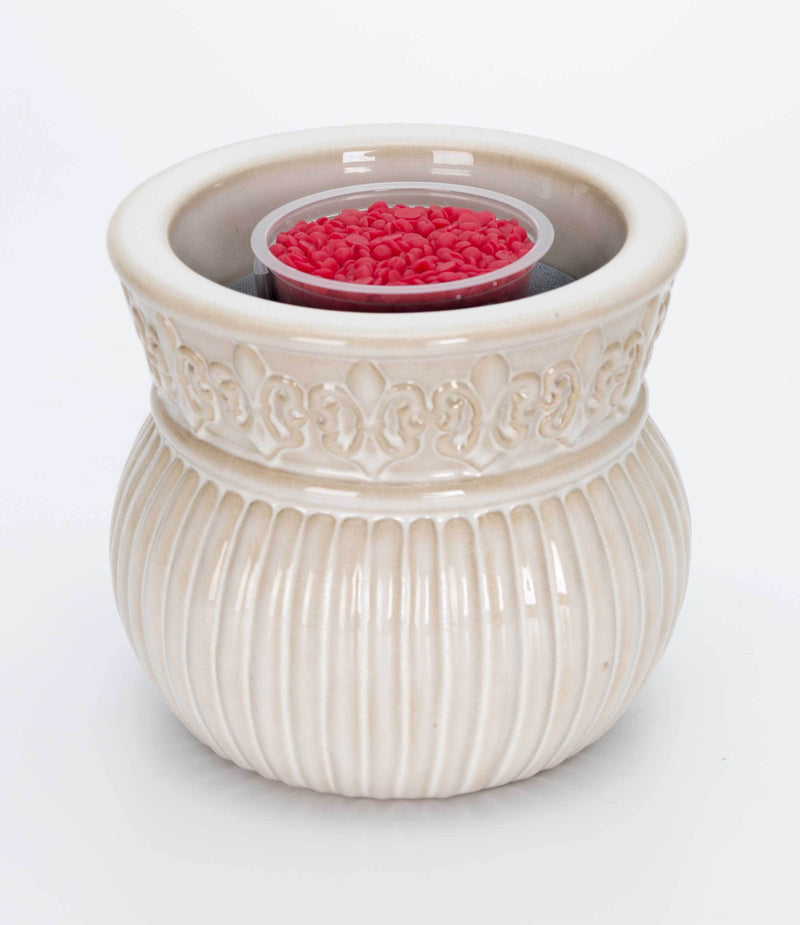 Aromabeads Singles Ivory Electric Melt Warmer - Candlemart.com