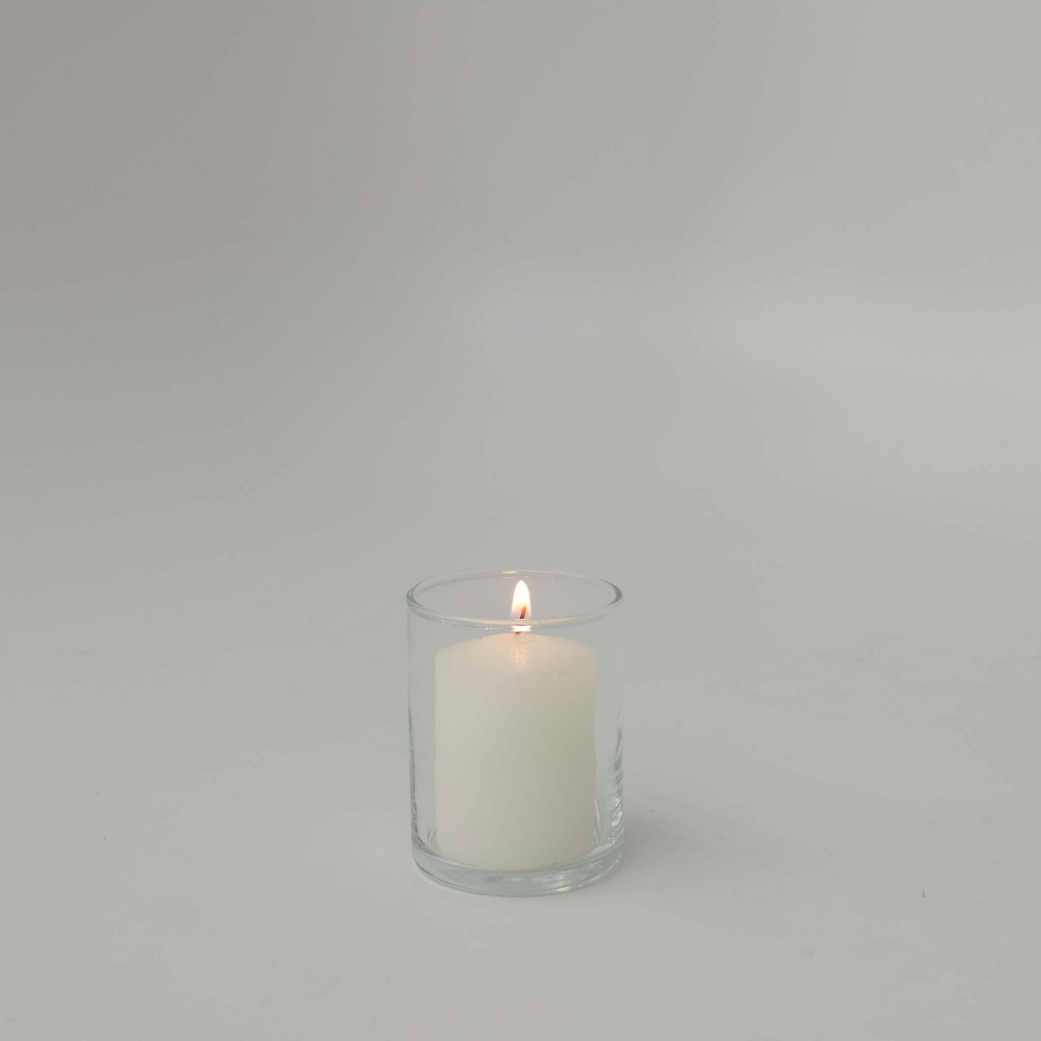 White Votive Candle 5hr - Candlemart.com