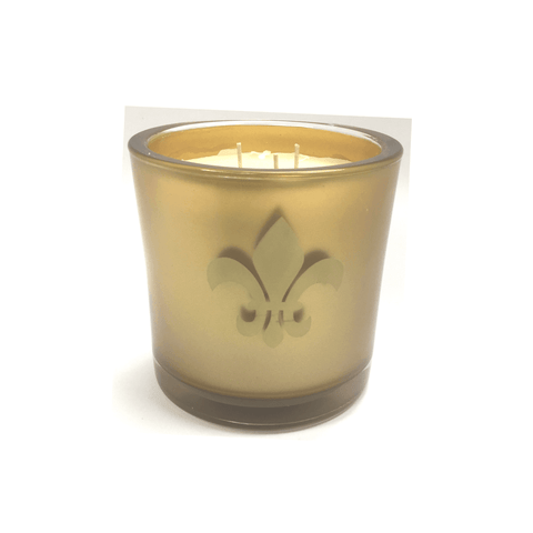 French Quarter Beignets Luxury 32oz Gold Glass Tumbler Candle Luxury Candles Candlemart.com $ 24.95
